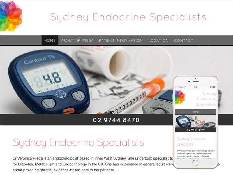 Endocrinologist Medical Website Design Sydney