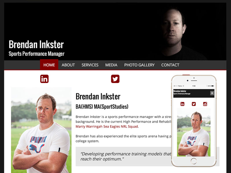 Sports Performance Website Design
