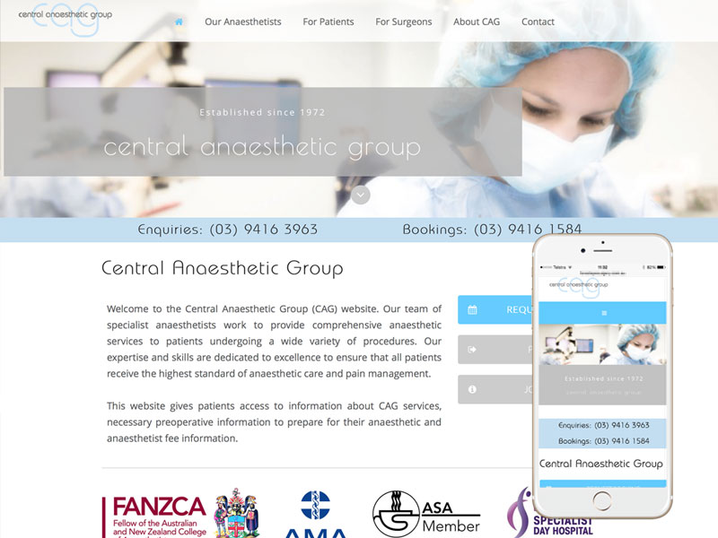 Anaesthetists Medical Website Design Melbourne
