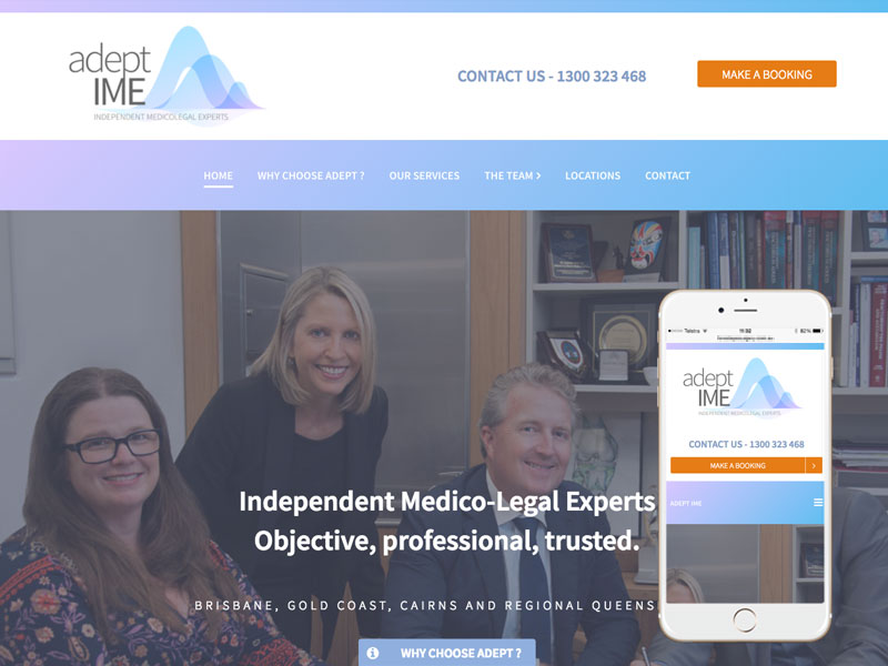 Medico-legal webite design Queensland