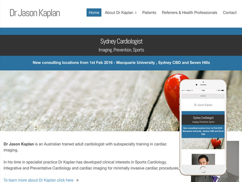 Cardiologist Website Design Sydney