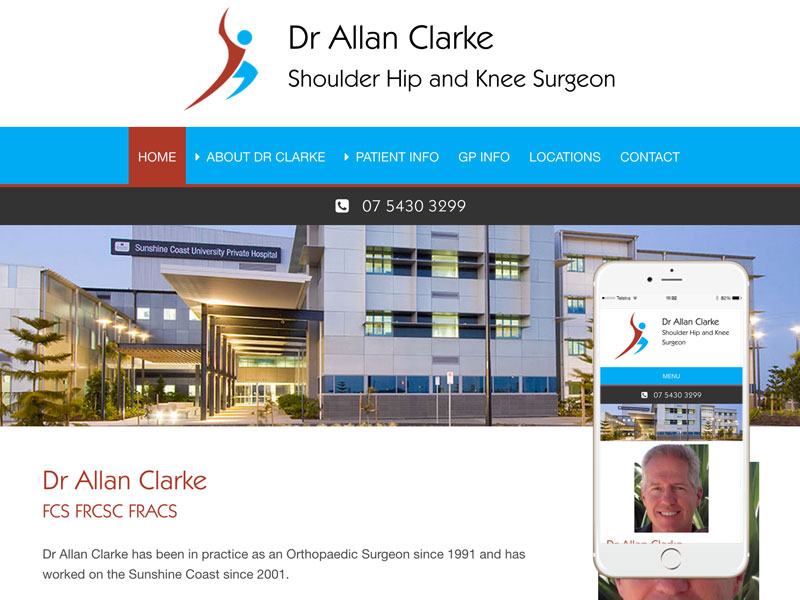 Orthopaedic Surgeon Website Design Queensland