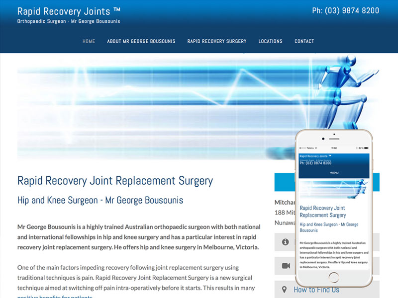 Orthopaedic Surgeon Website Design Melbourne
