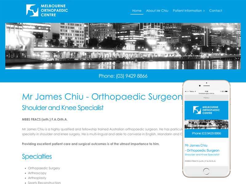 Plastic Surgeon Website Design Sydney