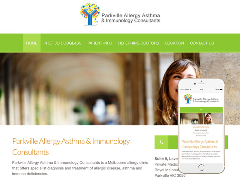 Allergy Immunology Medical Website Design Melbourne