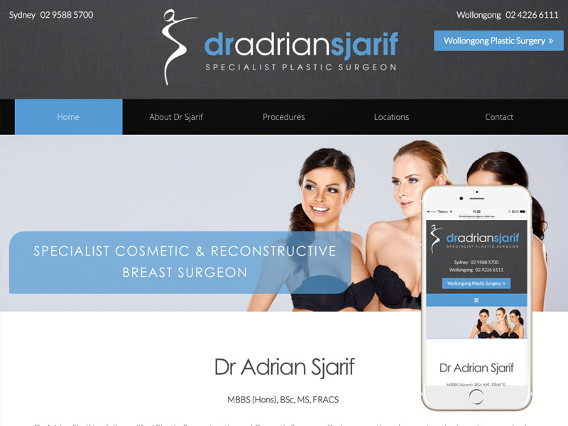 Plastic Surgeon Website Design Sydney Wollongong