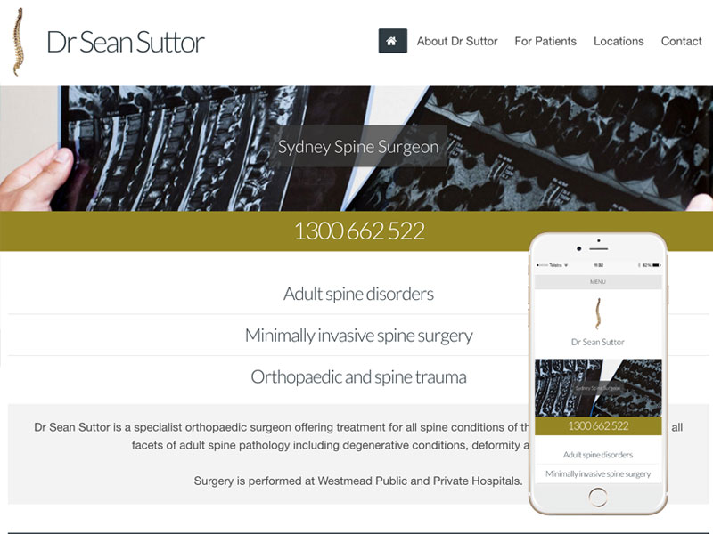 Spine Surgeon Website Design Australia