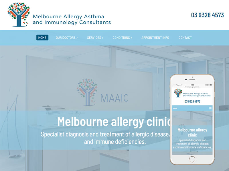 Melbourne medical website design