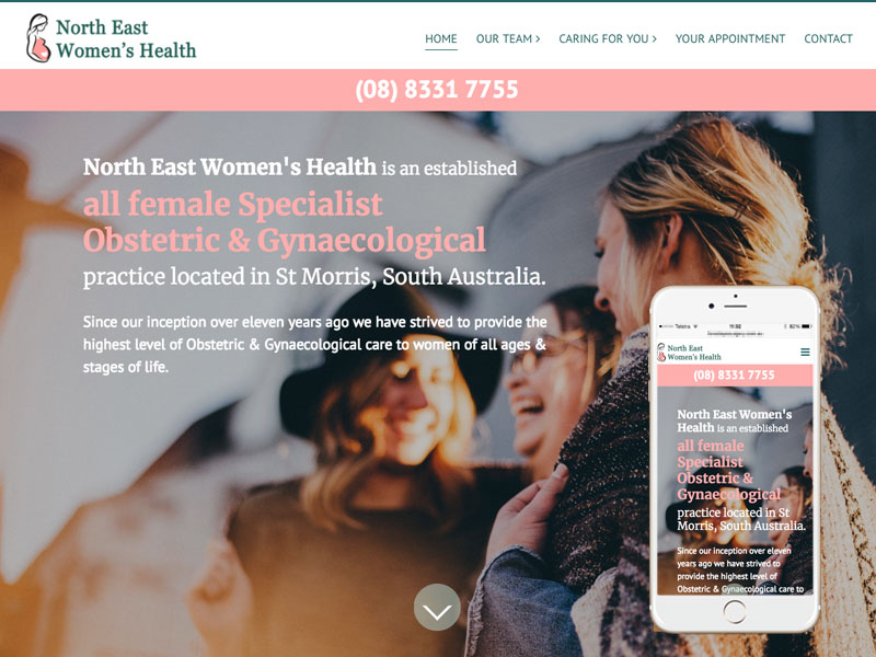 Adelaide medical website design