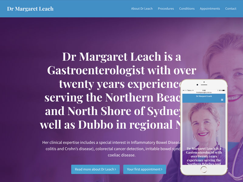 Gastroenterologist Medical Website Design