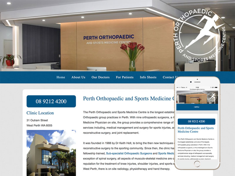 Perth Medical Website Design