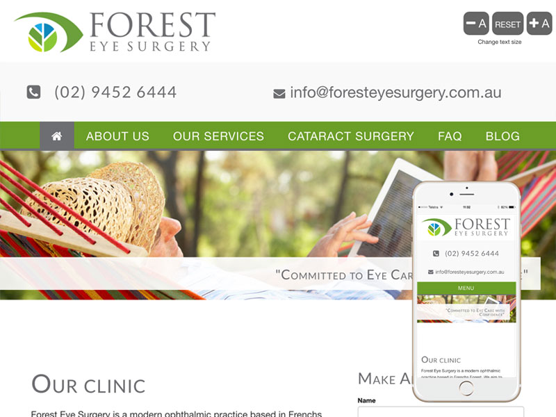 Ophthalmologist Website Design Sydney