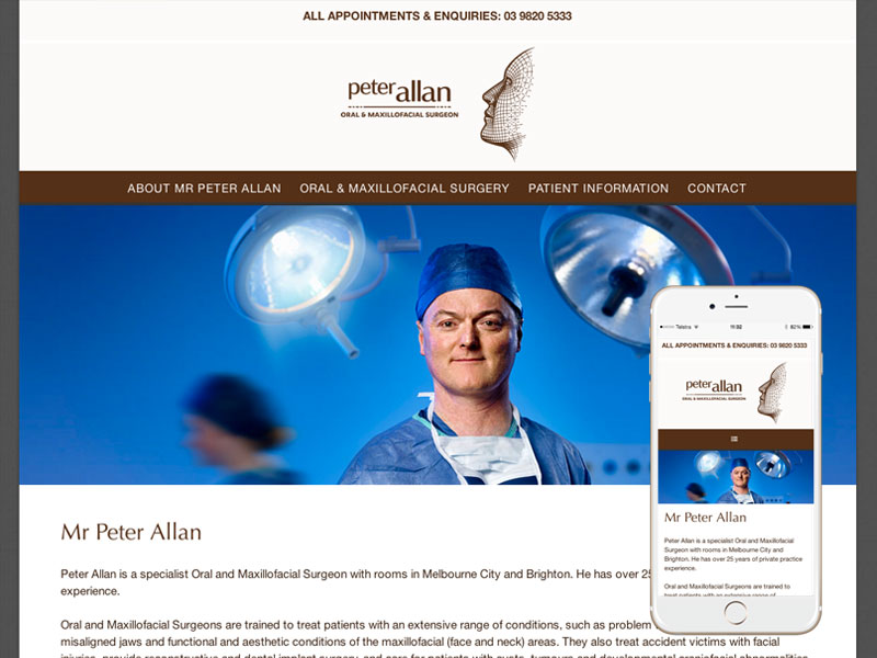 Surgery Dentistry Website Design Melbourne