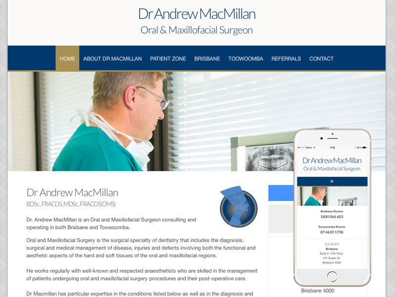 Surgery Dentistry Website Design Brisbane