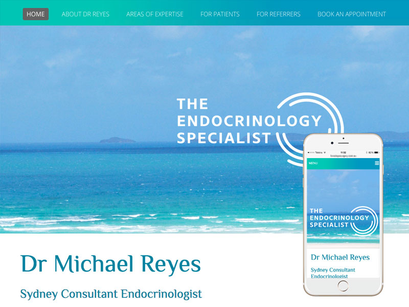 Sydney Endocrinology Medical Website Design