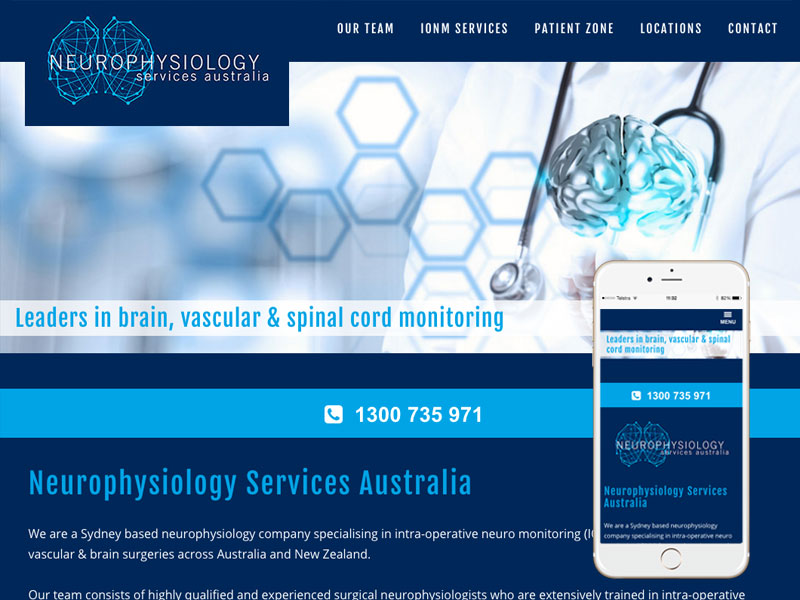Neurosurgery Website Design Australia