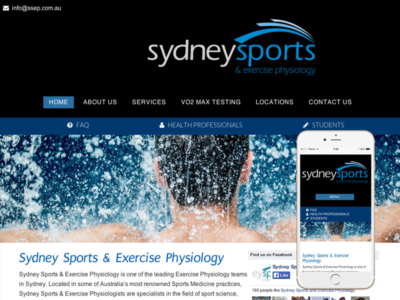 Sydney Exercise Physiology Website Design