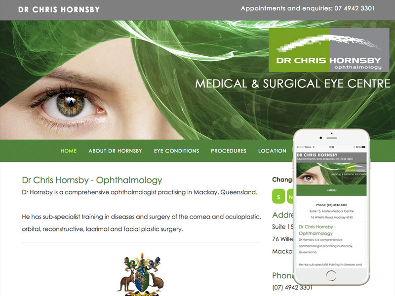 Ophthalmologist Website Design Queensland
