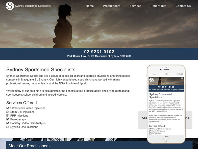 Multi-Disciplinary Clinic Website Design Sydney