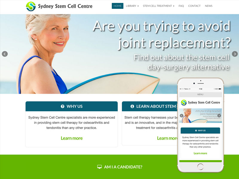 Sydney Stem Cell Website Design