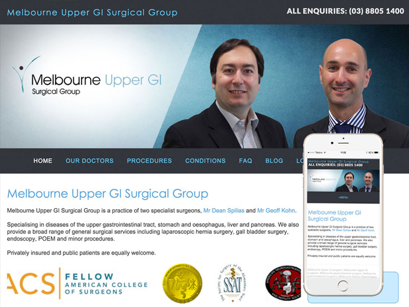 Melbourne Upper GI Surgery Website Design