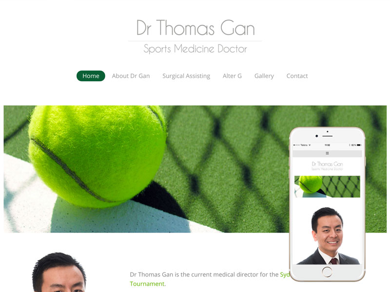 Sports Doctor Website Design Sydney