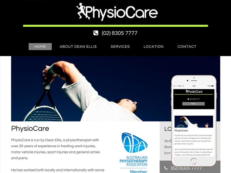 Physiotherapy Website Design Sydney