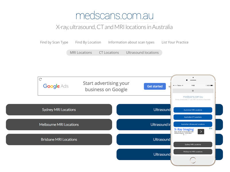 Radiology Website Design Australia