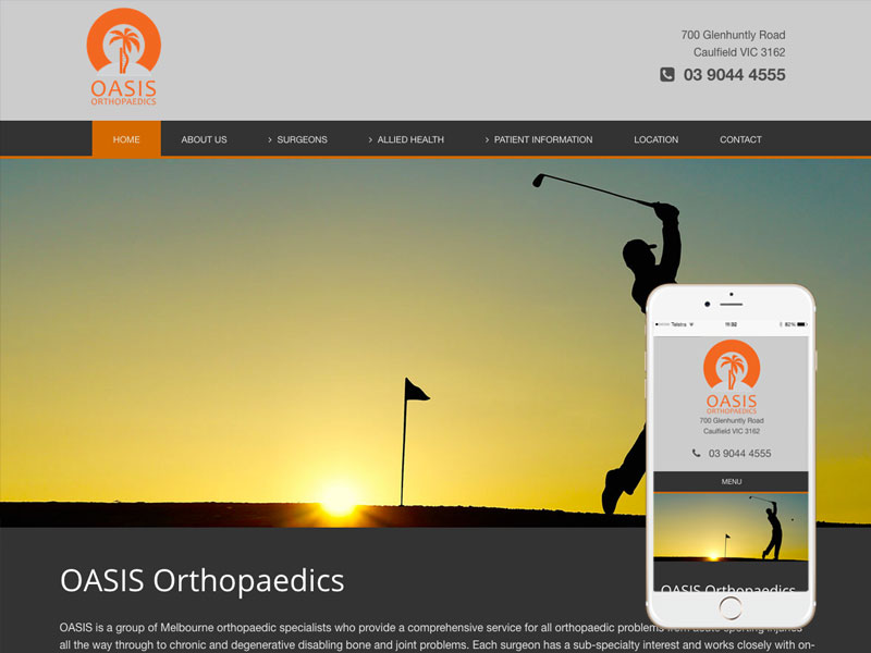 Melbourne Surgeon Website Design