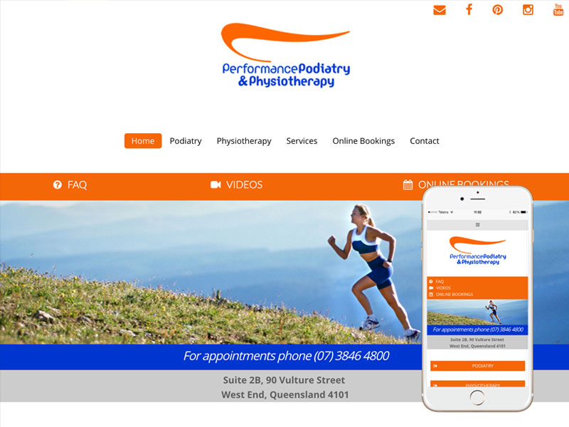 Physiotherapy Website Design Brisbane